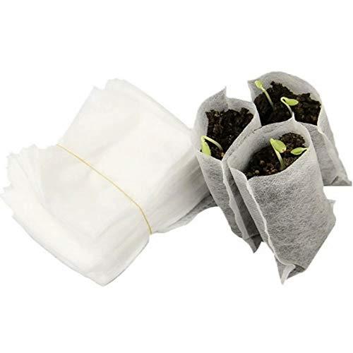 JiNKesI 1000pcs Sacs de pépinière Non tissés Sacs de semis de Plantes Sacs de Culture de Plantes biodégradables Sacs de semis Plantes Sac de Protection de Fruits Sacs pour la Maison Jardin