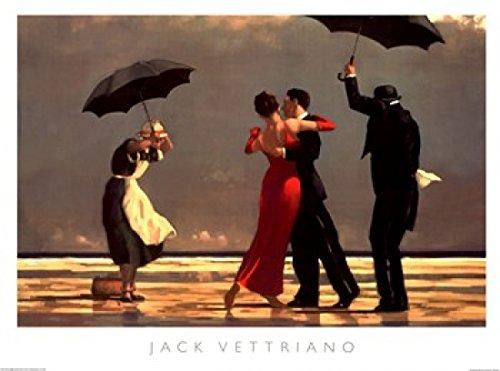 Jack Vettriano – Il maggiordomo cantante Stampa Artistica (117,48 x 88,27 cm)