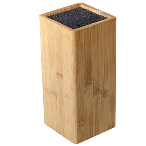 SIDCO Messerblock Bambus mit Borsteneinsatz Besteckhalter Universal Messerhalter Holz