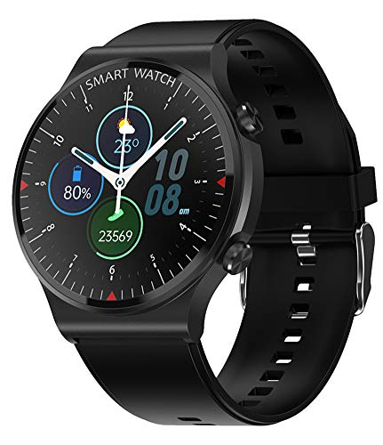 XWZ Pulsera Inteligente Reloj Inteligente Smartwatch Rastreador De Ejercicios Reloj Bluetooth Llamada Reloj Inteligente Reloj Deportivo Inteligente Hombre IP67 Impermeable,Negro
