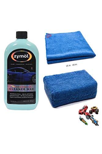 Zymol Z503A Auto | Car Cleaner Wax 20 oz Bundle with Microfiber applicator Sponge and edgeless Detailing Towel