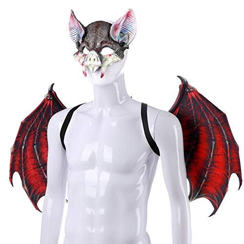 arbitra Alas de dragón de Halloween para niños, alas de Disfraz de fantasía para niños Máscara de Animal Accesorio de Cola de ala de dragón para niños Niñas Dinosaurio Juegos de simulación Normal