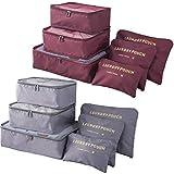 Packing Cubes 12 Pieces (2 Sets of 6 PCS)- JuneBugz Light Weight...