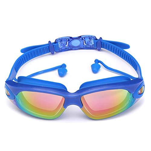Qagazine Gafas de natación profesionales, gafas de natación con tapones de silicona para la nariz, sin fugas, protección UV, para amantes de la natación, deportes acuáticos