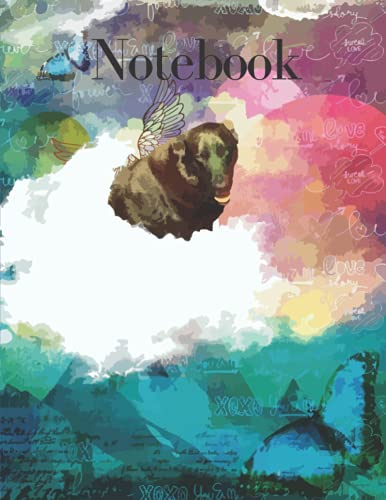 Notebook: Blue & Black Paw Print Journal/Notebook Cover: Journal/Notebook - Unlined Blanc Pages 8.5x11 (Dogmania Notebooks)
