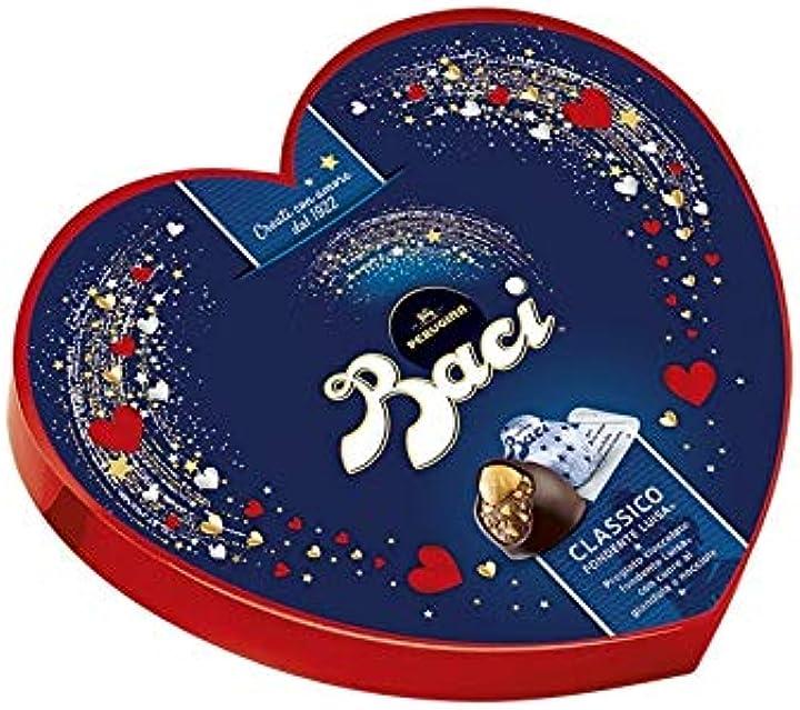 San valentino baci perugina classico cuore elegance idea regalo 100 gr B07MZW9TX4