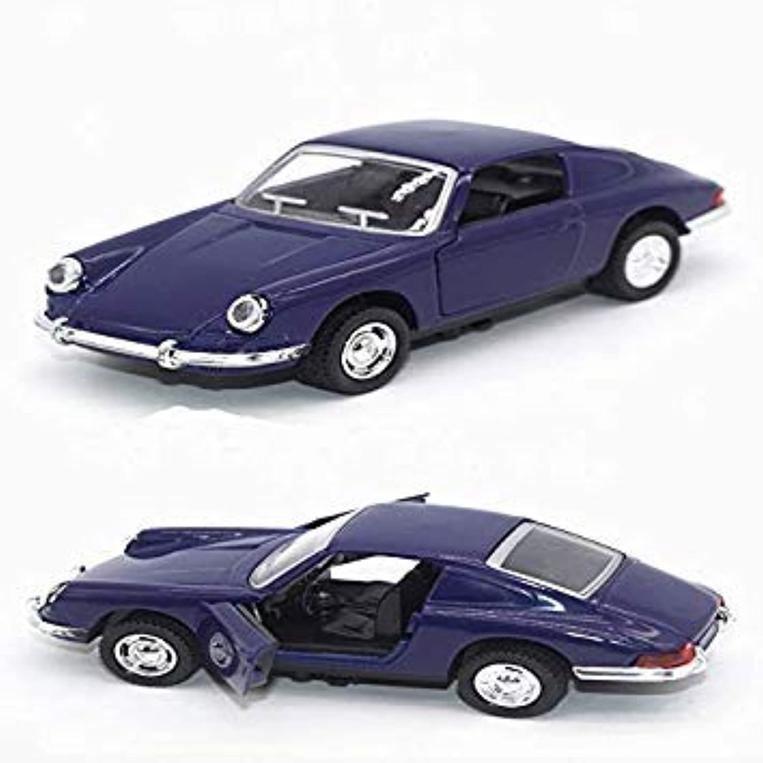 1 34 Classic Simulation 1963 911 Toy Classic Car color Collection Toy Pull Back Sound and Light Model bluee