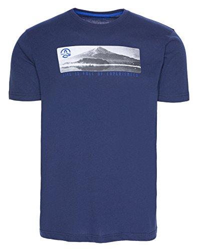 Ternua Preba Camiseta, Hombre, Multicolor (Dark Marine), S