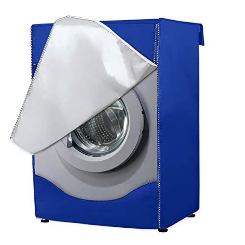 AlaSou Funda Lavadora, Secadora de Carga Frontal para Lavadora Cubierta Impermeable para Lavadora (60 * 85 * 55cm,Blue)