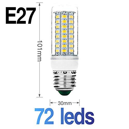 Smd Led-lamp Flexibele dubbele kop-lampvoet met LED-maïskolf Ac85-265V Ac220V schakelaar EU Us -stekkerlamphouder E27 30 36 56 72 89Leds Lampen-E27_72Leds_Warm_White