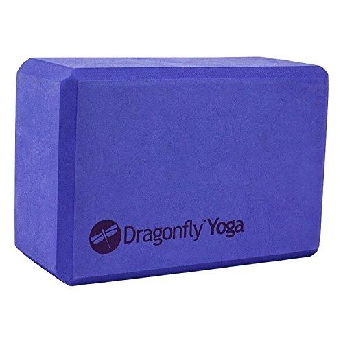 Dragonfly Yoga Premium Foam Block, Unisex, Y141BLKPURS4, Blue, 10 cm