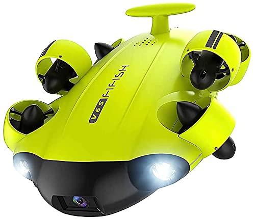 Guerlam. Sotto il supporto del robot dell'acqua VR 6WD. DRONE POSTERIORI POSTERIORI MULTIFUNZIONAMENTO DRONE SUBDARINE DIVE 10 0m Rov. Orologio dal vivo 4k uhd. Telecamera for la piscina del video del
