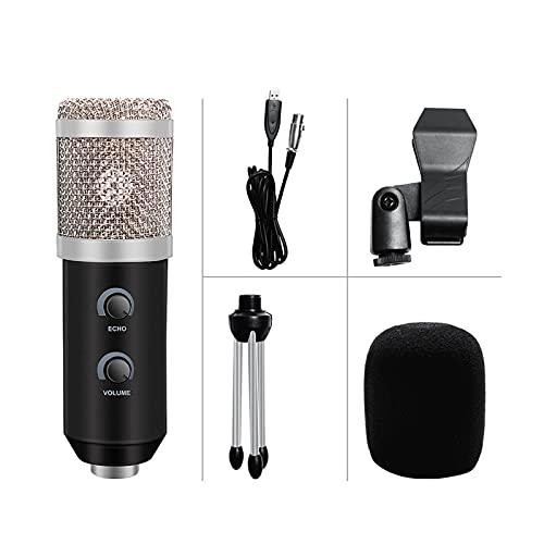 ywzhushengmaoyi mikrofon BM 800 Aggiornato BM 900 USB Microfono per PC Microfone Condensador USB Karaoke Microfono con treppiedi e Filtro Pop Microphone (Color : 1)