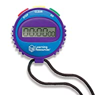 Learning Resources Simple 3 Button Stopwatch, Supports Science Investigations, Timed Math Exercises, Elapsed Time Tracking, Ages 5+