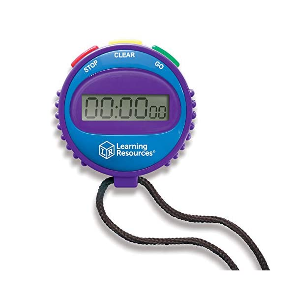 Learning Resources Simple 3 Button Stopwatch, Supports Science Investigations, Timed...