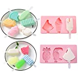 【Multi-use】 You can make so many foods with them, like ice cream, popsicle, jelly, yogurt. 【Cute Popsicle Molds】pop molds include pineapple, strawberry, cute mickey head and ordinary popsicle molds. They made of high quality food grade silicone, soft...