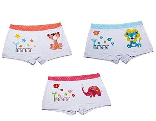 Lot de 3 animaux Lovely Series Culotte boxer confortable pour filles/Hauteur 120 cm