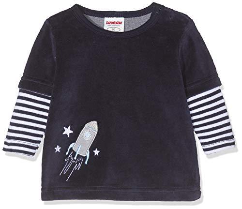 Schnizler Baby-Unisex Sweat-Shirt Nicki Rakete Sweatshirt, Blau (Marine 11), (Herstellergröße: 62)