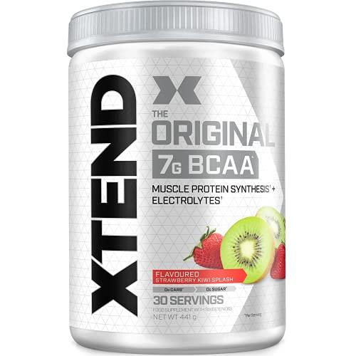 XTEND Original BCAA Powder - Fresa   Kiwi | complemento alimenticio con aminoácidos de cadena ramificada | 7 g de BCAA + electrolitos para recuperación e hidratación | 30 porciones Peso neto 441 g