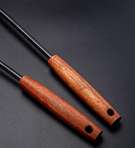 Espátula y cucharón, juego de herramientas para wok, 14,2 – 15 pulgadas, acero inoxidable 304