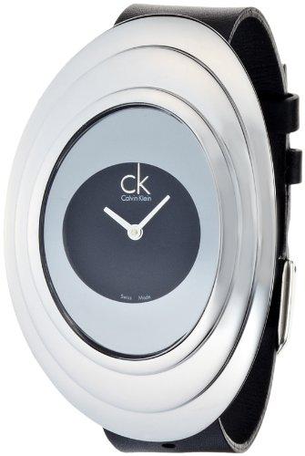 Calvin Klein Reloj Analógico para Mujer de Cuarzo con Correa en Piel CA2151RG-BR