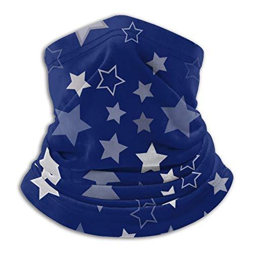 Silver Stars - Pañuelo facial reutilizable y ajustable, unisex, multifuncional, al aire libre, sol y a prueba de polvo, informal, pasamontañas, bufanda para la cabeza impresa