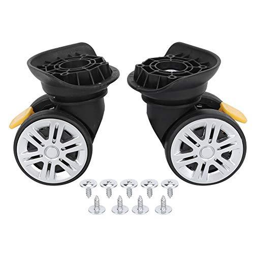 RiToEasysports Kofferrad, Deichselbox Stummschaltung Bremse Universalrad Koffer Koffer Koffer Koffer Koffer sicher mit Mehreren Schrauben für die Installation verwenden