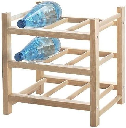 Ikea Hutten - Estantería Extensible para 9 Botellas de Madera Maciza