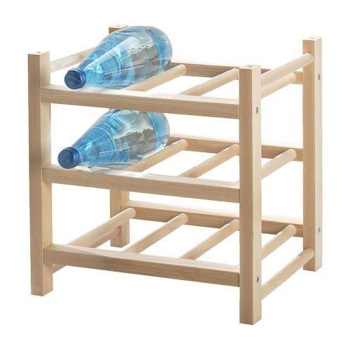 Ikea Hutten Flaschenregal für 9 Flaschen, Massivholz, erweiterbar