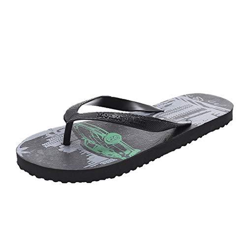 VonVonCo Walking Shoes for Men Summer Beach Style Flip Flops Pool Anti-Slip Slipper Casual Shoes Black 11