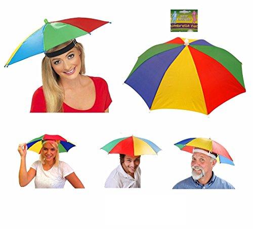 Lizzy ADULT UMBRELLA HAT Novelty Costume Mens Ladies Multi Colour Festival...