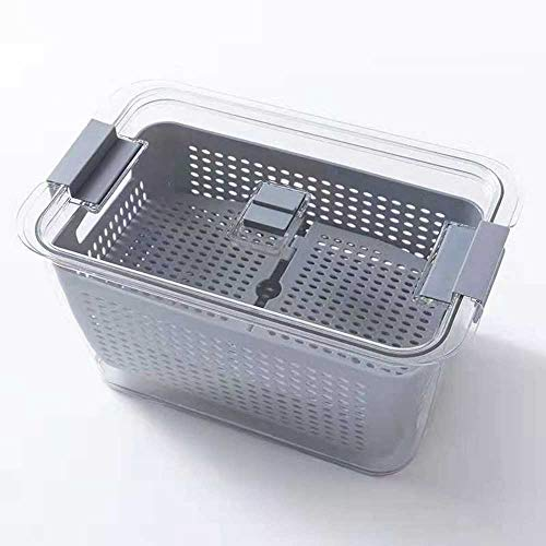 Fresh Produce Storage Containers,Refrigerator Sorting Box, Container with Filter Storage ,to Keep Fruits and Vegetables Fresh Suitable for Refrigerators and Kitchens