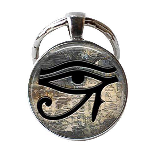 Schlüsselanhänger mit ägyptischem Auge, Horusauge, Symbol des Schutzes, allsehendes Auge, Schmuck-Geschenk.