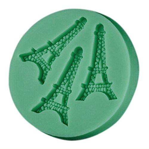 Cosanter 1 X Tour Eiffel Moule en Silicone Décoration Moule à Gateau Moule au Chocolat DIY pour Cérémonie - Couleurs Aléatoire