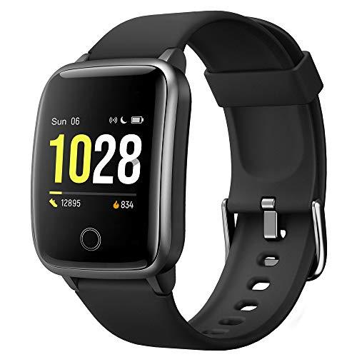 Smartwatch, Orologio Fitness Tracker Donna Uomo Schermo Colori Impermeabile IP68 Activity Tracker con Monitor del Sonno Cardiofrequenzimetro da Polso Contapassi Calorie Cronometro per Android iOS