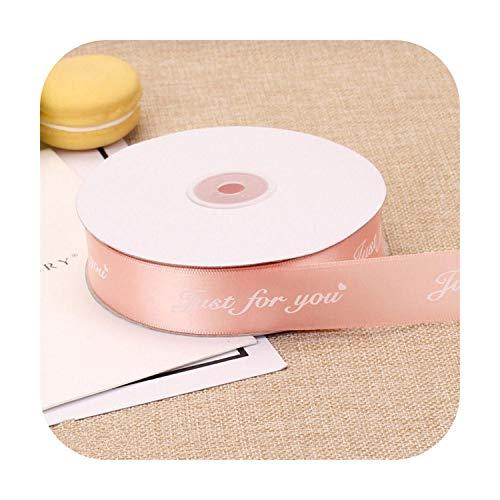 25MM Polyester Lint DIY Boog Craft Lint Kaartgeschenken Wrapping Bloemen, Bloems, Gebonden Geschenken, Decoratie, Bakken,-Champagne-10meter