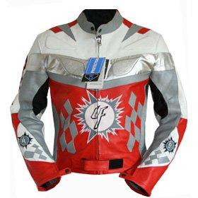 4LIMIT Sports Motorradjacke Leder 4RACING Biker Motorrad Jacke Lederjacke rot