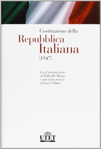 Costituzione della Repubblica italiana. 1947