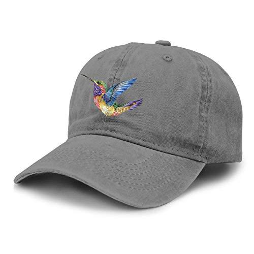 XuFuZengk Truck Baseball Cap Sun Hat Hummingbird Tattoo Unisex Adjustable Retro Cowboy Hat Stylish B