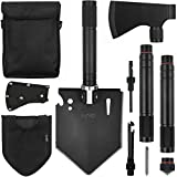 iunio Folding Shovel and Camping Axe Tool Kit, with Carrying Bag, Multitool Spade, Survival Hatchet...