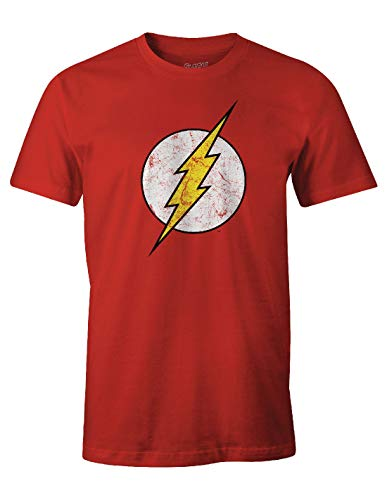 COTTON DIVISION Flash Logo T-Shirt, Rouge, Large (Taille Fabricant: L) Homme