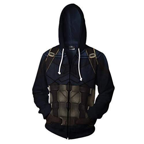 3D Marvel Panther Sudadera con capucha de la moda anime ropa deportiva de los hombres Marrón marrón XL