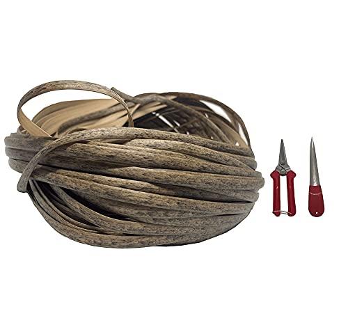jadlahf El Kit De Reparación De Material De Ratán De Grano De Madera (Mimbre + Herramientas De Tejer) Es Adecuado para Reparar Mesas Y Sillas De Mimbre, Muebles De Jardín (Light Wood Grain)