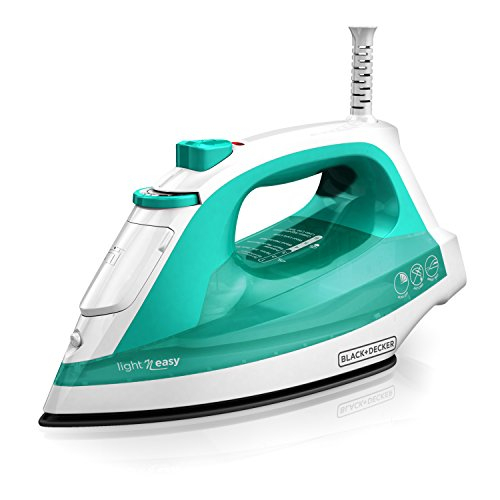 BLACK + DECKER IR1010 Light 'N Easy Compact Steam Iron with Nonstick Standard Cord Iron