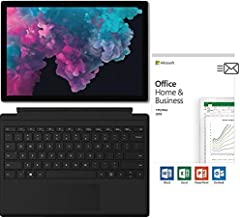"$999 Get Newest Microsoft Surface Pro 6 12.3"" (2736x1824) 10-Point Touch Display Tablet PC w/Type Cover (Black) & Office 2019, Intel Quad Core i5-8250U Upto 3.4GHz, 8GB RAM, 128GB SSD, Windows 10, Platinum"