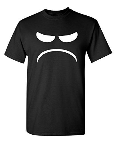 Mad Smile Graphic Novelty Sarcastic Funny T Shirt XL Black
