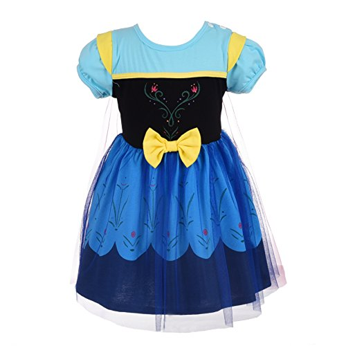 Dressy Daisy Princess Dress for Toddler Girls with Cape Halloween Fancy Party Costume Dress Size 3T