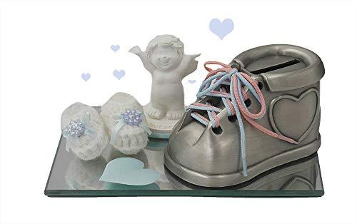 Taufgeschenk Geldgeschenk Geschenkset Geburt Taufe Spardose Babyschuh Schutzengel Deko Spiegel