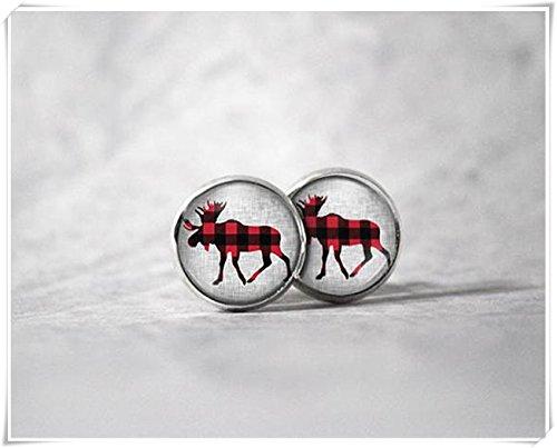 Orecchini a forma di casetta degli elfi, in vetro a cupola, realizzati a mano
