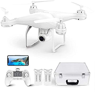 Potensic T25 GPS Drone With 2K Camera For Adults Beginner,FPV RC Quadcopter, Auto Return Home, Altitude Hold, Follow Me, Adjustable Wide Angle Camera, Long Control Range, 2 Batteries and Carrying Case